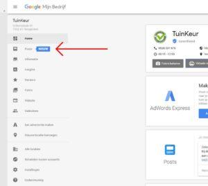 Het gebruik van Google Posts
