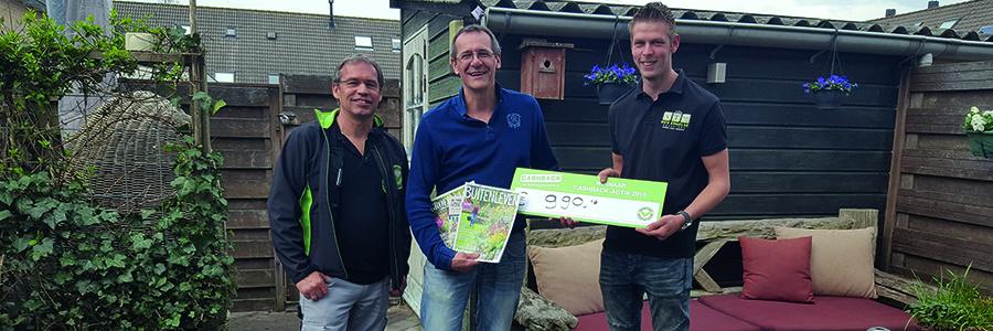 Prijs landelijke CASHBACK-actie valt in Alphen aan den Rijn.